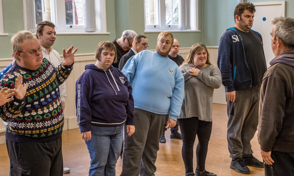 Active arts project Hastings and Bexhill Mencap, comedy show rehearsals