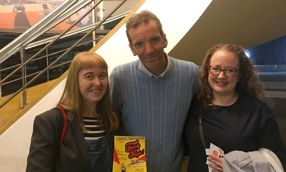 Henning Wehn at the DLWP, Active Arts' 2019 Compare