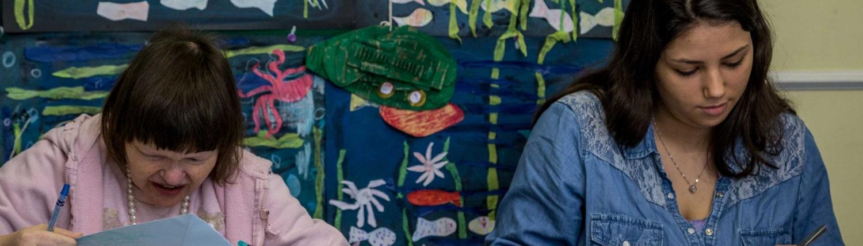 Open Door project Hastings and Bexhill mencap art working